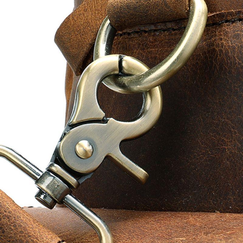 Мужская сумка из натуральной кожи, портфель, сумка для ноутбука, Большая вместительная сумка, высокое качество, дорожная сумка через плечо - 4
