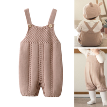 baby costume Newborn Baby Knit Overalls Cute Knitted Rompers outfits 100% Cotton