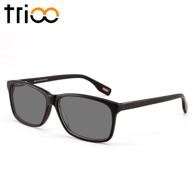 TRIOO UV400 Resep Kacamata Persegi Minus Sunglasses Dengan Diopters Miopia Kacamata Optik Diopter Unisex Sun Eye Glasses Cacao