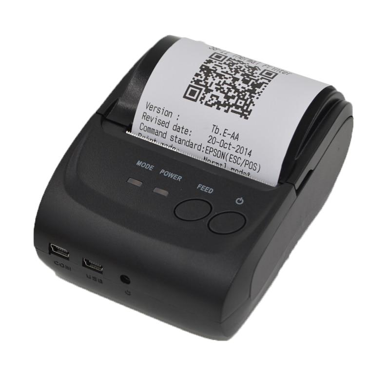 Bluetooth Thermal Receipt Printer 5802D 58mm USB POS Ticket Barcode Printer Pocket Bill Termal Printer Support Android Windows bluetooth thermal printer 58mm usb pos small ticket barcode receipt printer pocket bill thermal printers for ios android windows