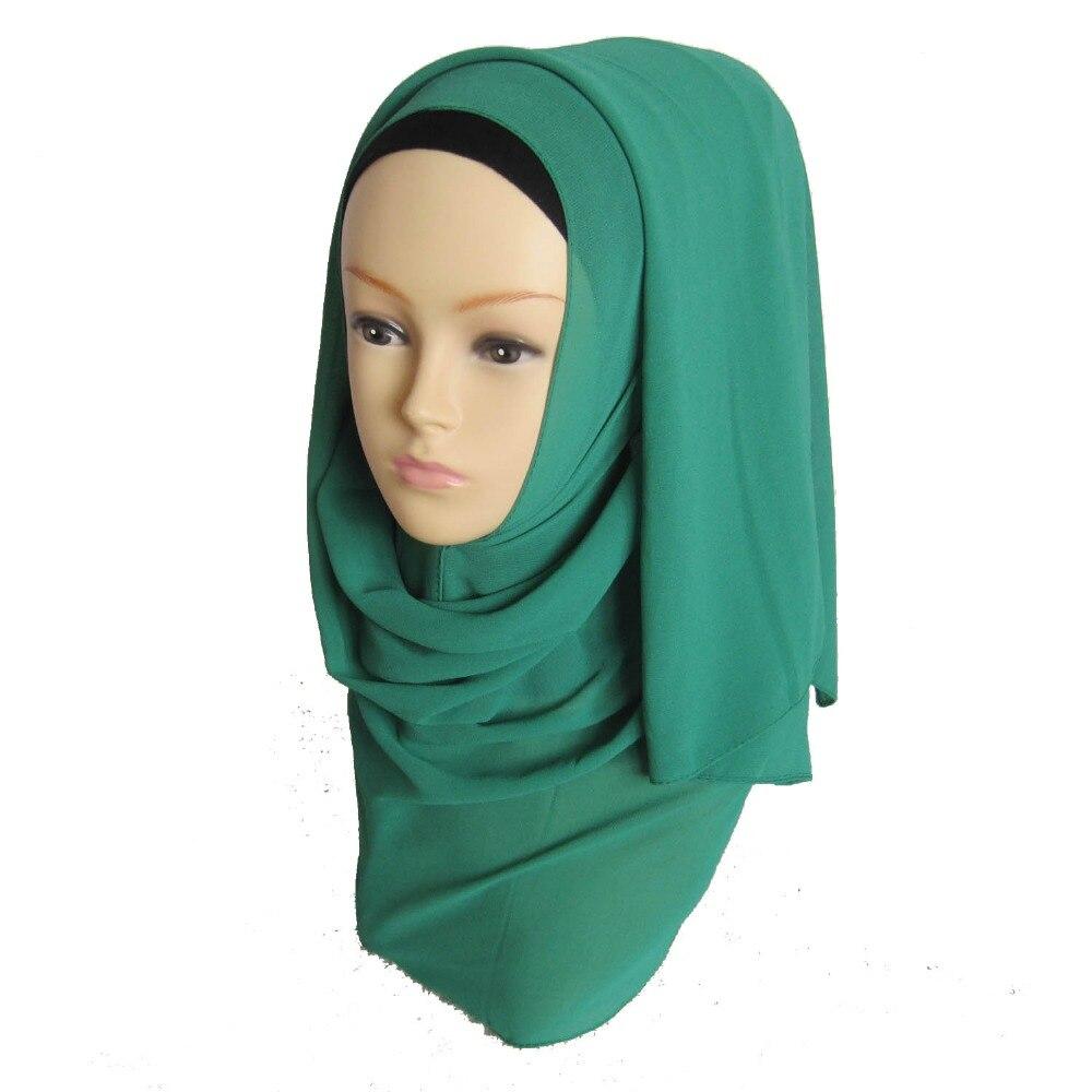 H985 Latest big size plain chiffon long scarf muslim hijab scarf fast delivery