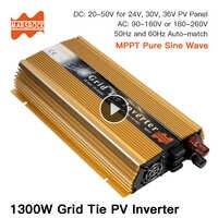 1300W Grid Tie Solar Inverter, Input 18V, 30V,36VDC, Max 1500W solar or wind power, MPPT function, high quality, free shipping!!