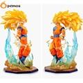 [PCMOS] 2017 Novo Anime Dragon Ball Z DBZ Super Saiyan 3 Goku 15 cm/6 ''Figura PVC Não Box Frete Grátis 5854-L