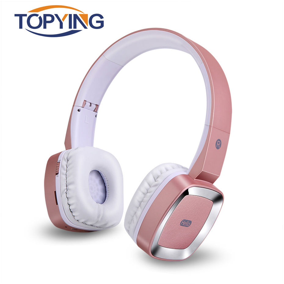 TOPYING Bluetooth Headphone With Memory Card Headset For Sport Mp3 Player Folding Headset Wireless Bluetooth 4.0 Earpiece