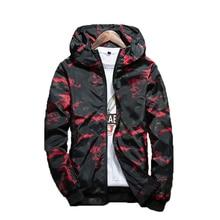 Brie new Spring Autumn Mens Casual Camouflage Hoodie Jacket Men Waterproof Clothes Men's Windbreaker Coat Male Outwear 4XL цены