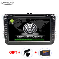 2Din Android Car Video DVD Player Steering-Wheel For VW/Volkswagen Touareg 8 inch GPS Navigation Bluetooth HD touch Scr
