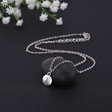 My Shape Fashion Jewelry Zinc Alloy Metal Meaning I and L Letter Pendants Round Necklace Women shape i
