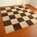 8pcs Soft Warm Puzzle Baby Crawling Mat EVA Foam Shaggy Velvet Carpet Door Mat Plush Fabric Carpet Area Rug Room 30cm/piece