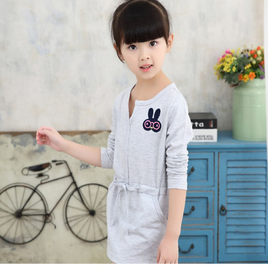 2019 New Girls Dress Spring summer baby kid Children s clothing cute  Rainbow long sleeve dresses 1pcs sale 2~10Age high quality-in Dresses from  Mother ... f9f3582d0