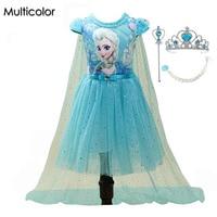 2016 Fashion New Girls Children Clothes Anna Elsa Dress Girl Baby Elsa Costume Kids Summer Princess