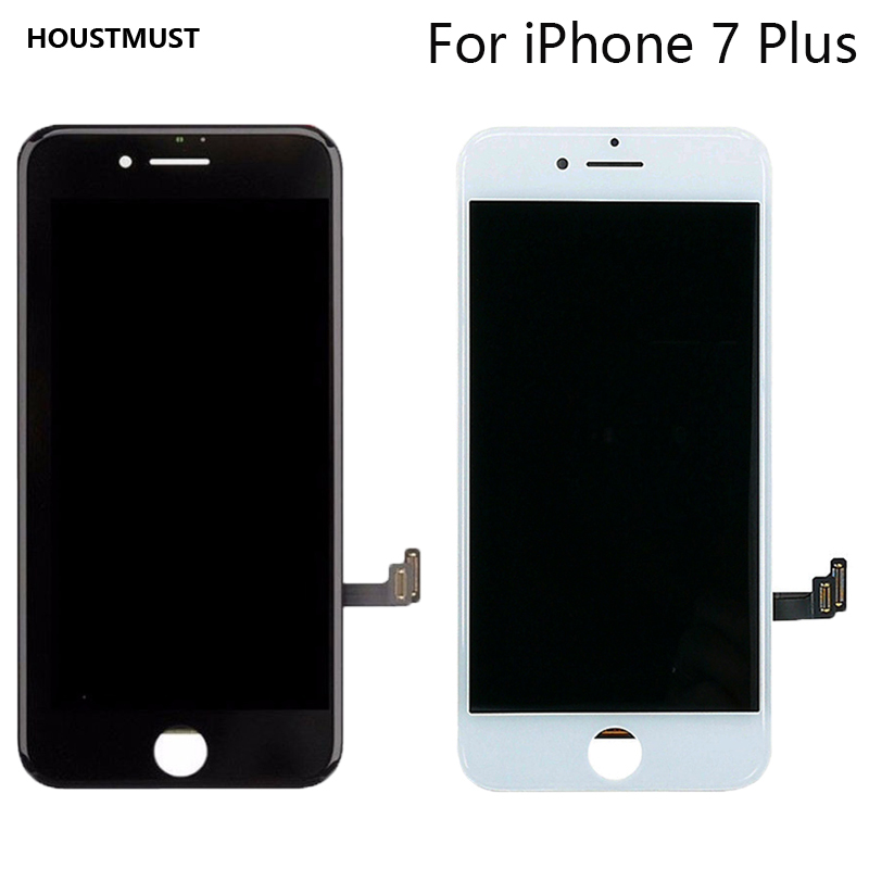 HOUSTMUST 1PCS Black White Color LCD Display Touch Screen Replacement LCD For iPhone 7Plus screen No Dead Pixel Fast Shipping