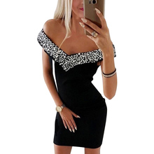 Dress Women Fashion Sleeveless Off Shoulder Slash Neck Crystal V Neck Black Party Dress Streetwear Women Bodycon vestidos H30 black fashion v neck drop shoulder jumper