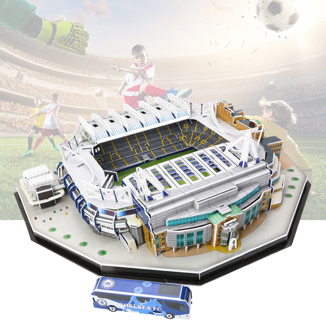 3D jigsaw puzzle football stadium model toy Camp Nou FC BARCELONA stamford bridge  Anfield Old Trafford paper Construction Toys