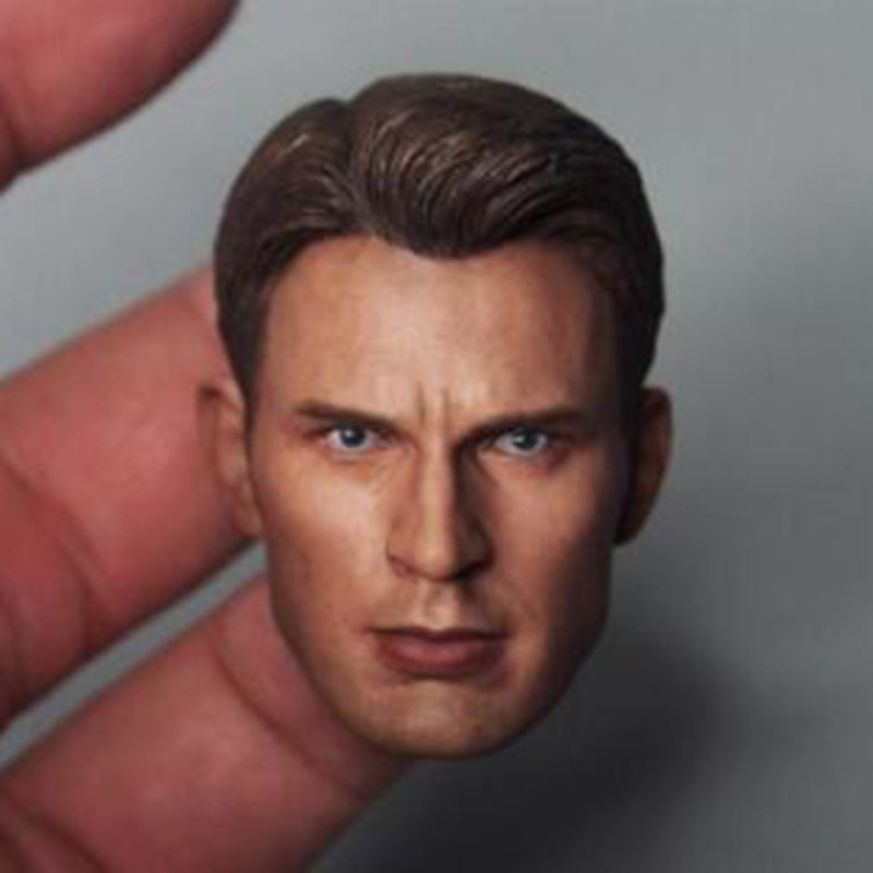 1//6 Captain America/'s Head Carving Chris Evans Suitable for Encapsulating Muscle