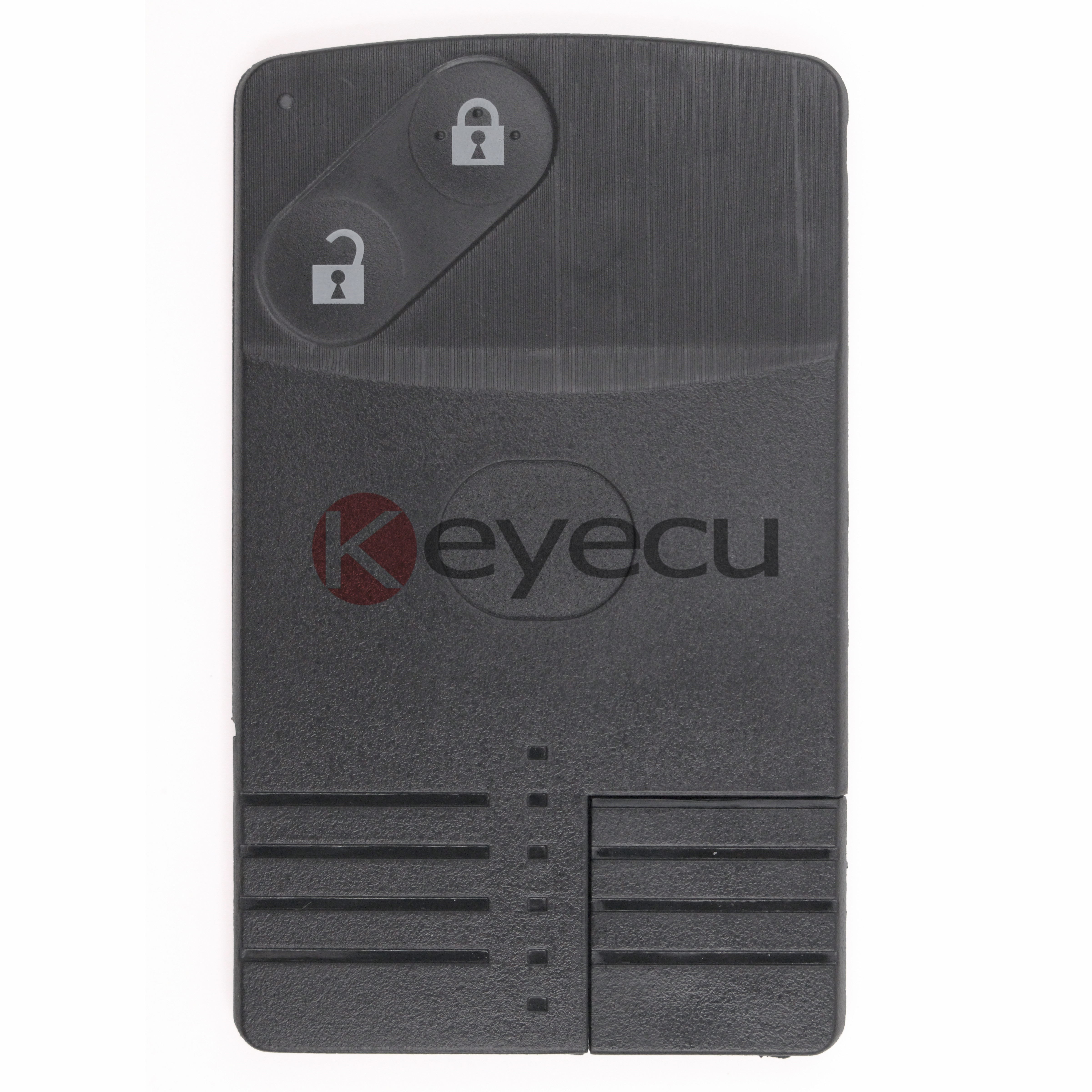 KEYECU High Quality Keyless Entry Smart Card Remote Control Key 2 Button 315MHz 4D63 Chip for Mazda 6 Uncut Blade Inserted