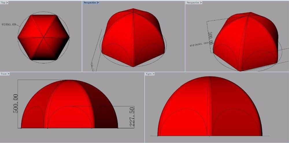 Отлично 10 м Диаметр 5 м h 6 ног надувной купол палатки с полное покрытие для России