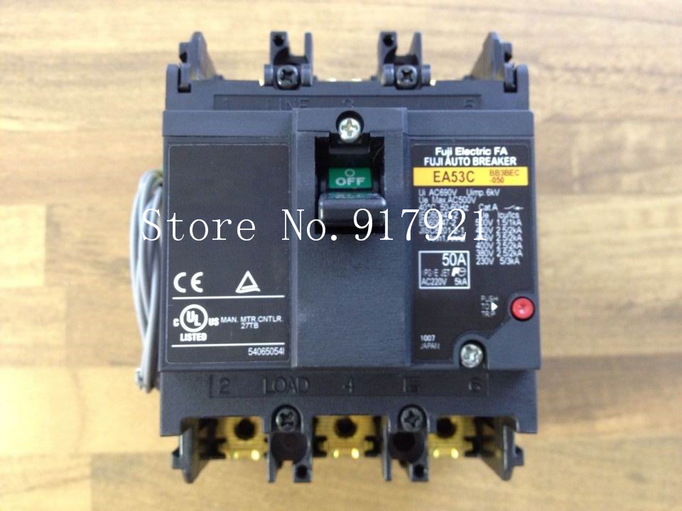 [ZOB] Fuji EA53C BB3BEC-050 3P50A AC500V (genuine leakage switch)  --2PCS/LOT fuji original module 2mi50f 050 2di300a 050 2di300a 050