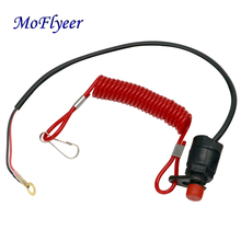 цена на MoFlyeer Motor Ignition Starter Key Switch Boat Outboard Safety Rope Switch Engine Kill Stop Tether Cord For Yamaha Motors