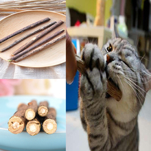 5 pcs Natural Matatabi Polygonum Cat Cleaning Teeth Catnip Molar Chew Stick Vine Toy