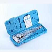 Штангенциркуль с циферблатом 0 150 мм, 6 дюймов, из нержавеющей стали, стандартный ударопрочный штангенциркуль с нониусом, 0,01 мм, метрический измерительный инструмент