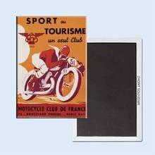 Affiche de Sport français Vintage 24151 rétro nostalgique, aimant de réfrigérateur