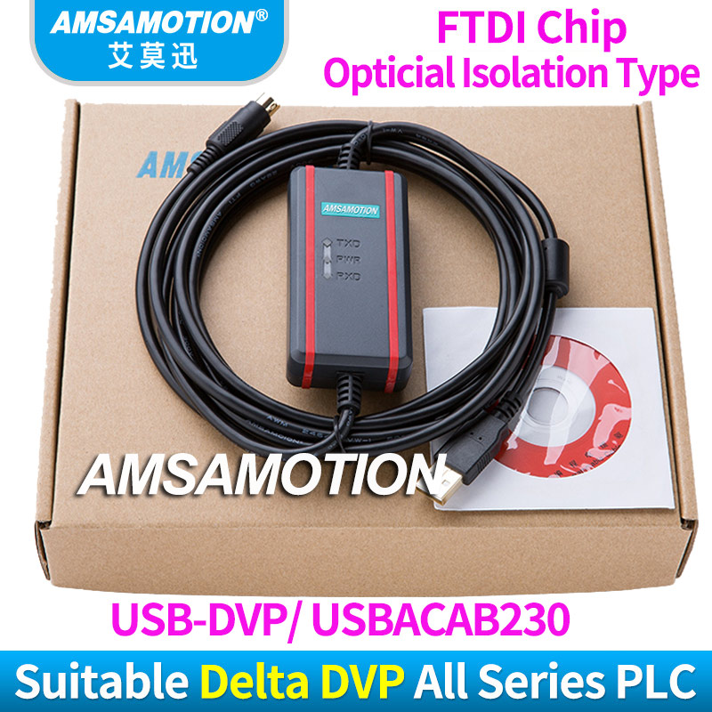 USBACAB230 Communication Cable Suitable Delta DVP All Series PLC Programming Cable Download Cable USB-DVP freeship compatible dop dvp communication cable for dop a hmi and delta plc dopdvp plc cable replacement of dop dvp
