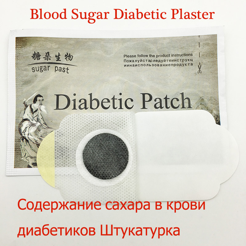 10pcs/lot Diabetes Herbal Diabetes Cure Lower Blood Glucose Treatment Diabetic Patch Russian Instruaction