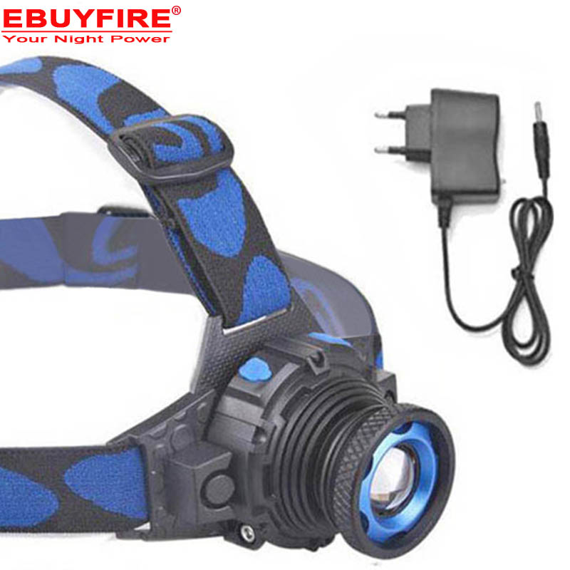 ZOOM Q5 LED Head lamp Built-in Lithium Battery Waterproof Headlight Rechargeable Head lamps 3 Modes Zoomable lamp with battery
