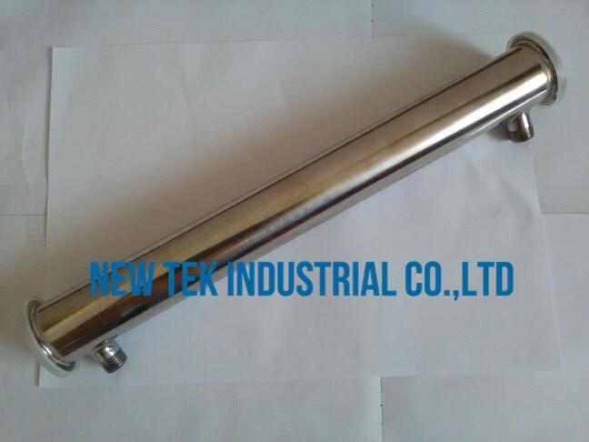 2 pouce tri clamp x 450mm long en acier inoxydable 304 reflux condenseur moonshine accessoires 1/2in. Bsp adaptateur
