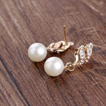 Gold rhinestone Pearls Set 3