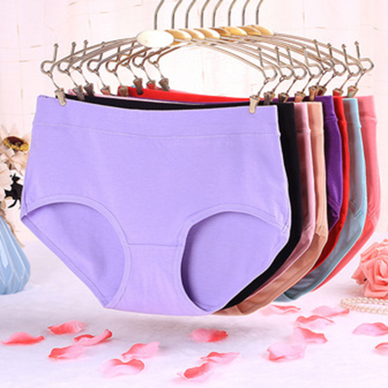 New Arrival Sexy Women Panties Breathable Solid Briefs Hipster Cotton Panties Love Pink Lady Underwear