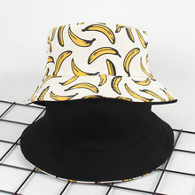 2019 Summer Unisex Adult Double Sided Wear Banana Fisherman Hat Sunscreen Outdoors Cap hip hop female Male caps Fisherman fashion pop fruits cap unisex harajuku bucket hat adult double sided wear banana fisherman hat sunscreen outdoors cap sun hats