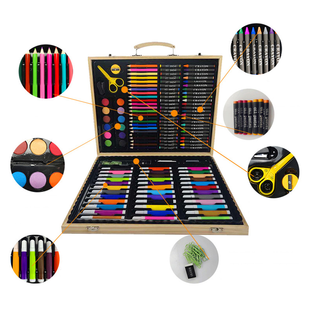 Children Gift Pencils Crayon Stationery Office Sketching Storage Case Painting Brush Student Art Set Watercolor Pen For Drawing-in Art Sets from Office & School Supplies