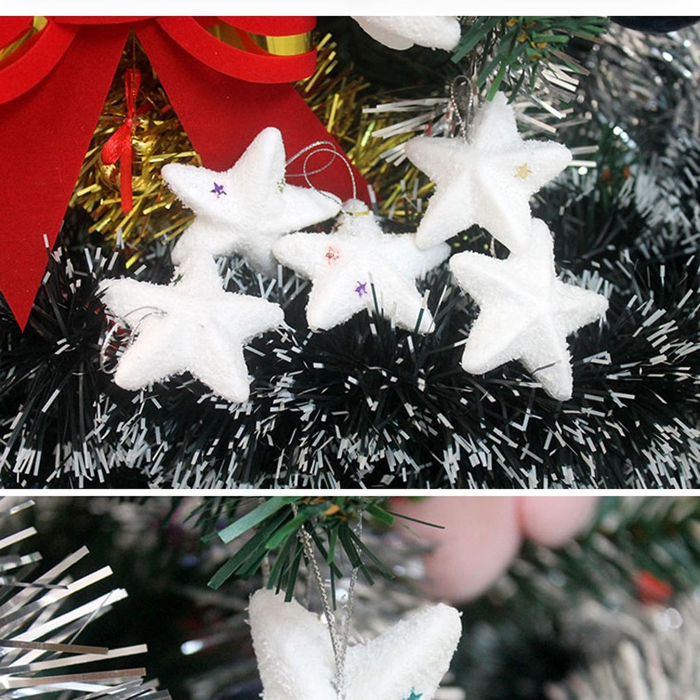 Foam Snow White Bell Stars Snowball Hanging Pendant Christmas Tree Decoration New Year Party Supplies Holiday Festival