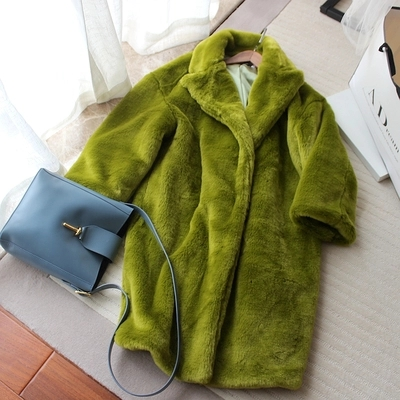 2018 Novo Estilo de Moda High-end Mulheres Faux Fur Coat S9