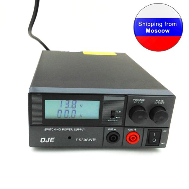 Conversor de alta eficiência dc 220v, conversor de PS 30SW iv 13.8v 30a interruptor fonte qje ps30sw iv para rádio de carro TH 9800 KT 8900 kT 7900D