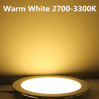 3W-25W Round LED Ceiling Light Recessed Kitchen Bathroom Lamp AC85-265V LED Down light Warm White/Cool White Free shipping 1
