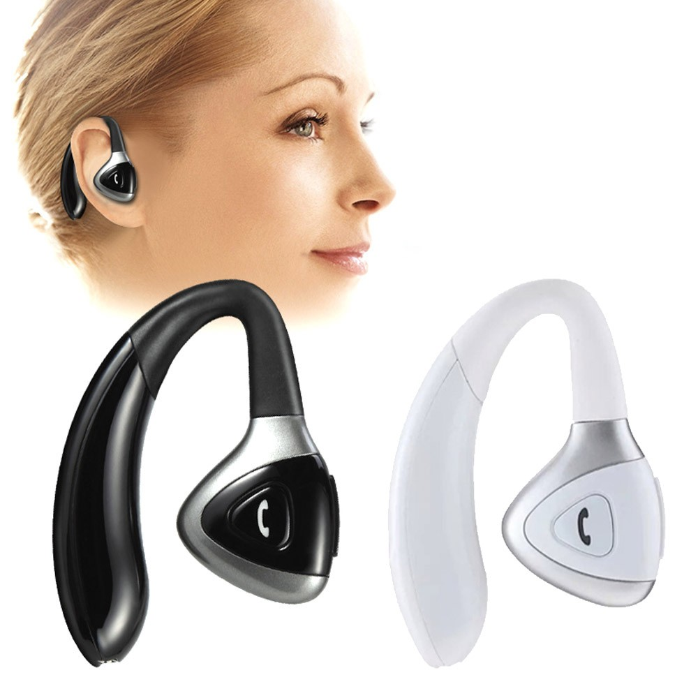 1PC High Quality Wireless Stereo In Ear Earhook Bluetooth V4.1 Headset Portable Earphone With Battery For iPhone#ES