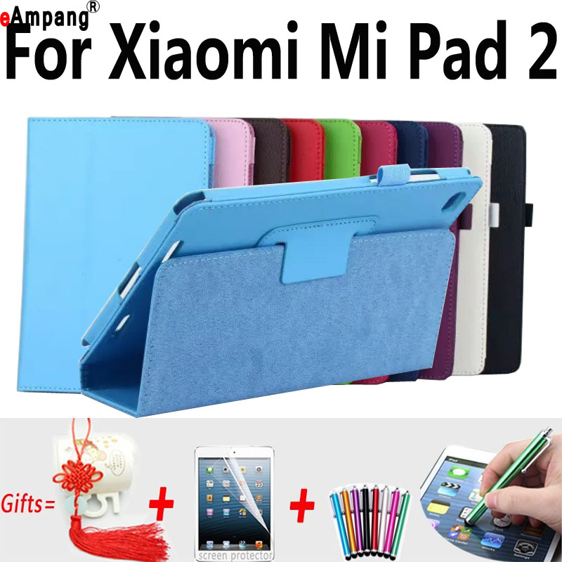 Lichi PU Leather Cover for Xiaomi Mipad 2 Case Slim Corner Fully Protected Cover for Xiaomi Mi Pad 2 Case 7.9 inch with Stand