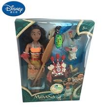 Disney Vaiana Boneca moana figure Waaliki Maui role playing doll model with music action holiday gift childrens toys
