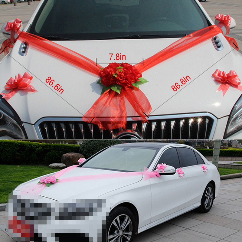 Wedding car decoration artificial flowers fake stamen leaves silk wedding car decoration artificial flowers fake stamen leaves silk flower sets pompoms decoration marriage supplies accessories in artificial dried flowers junglespirit Gallery