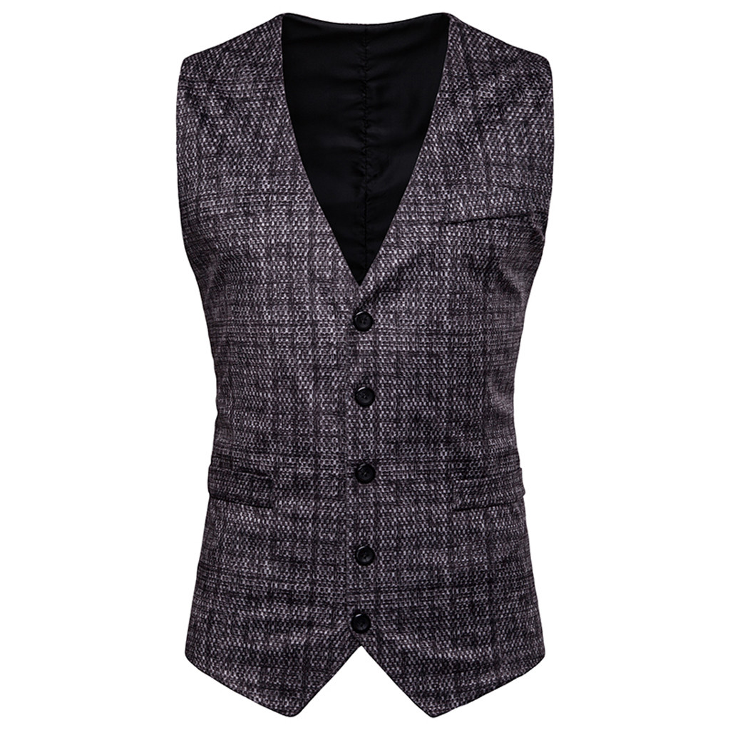 Men Vest Costume Casual Business Gold Sleeveless Spring New Gilet Tops Homme Stamping