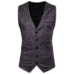 Men Vest Costume Gilet Gold Casual Business Sleeveless Summer Spring New Tops Homme Stamping