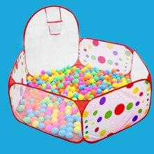 Складные детские игрушки палатка для океанских шариков Детские шарики для игры, бассейн с корзиной для игр на открытом воздухе в помещении большая палатка для детей мяч яма