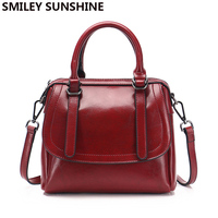 SMILEY SUNSHINE cow leather women genuine leather handbags shoulder bag high quality designer luxury brand flap crossbody bags
