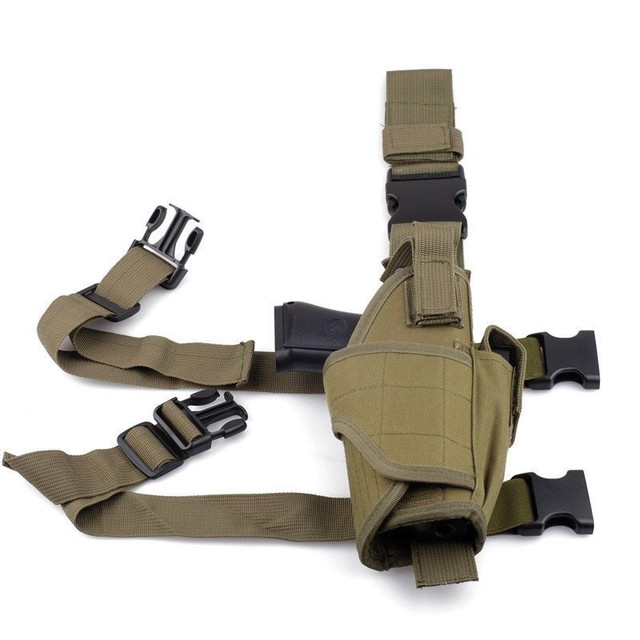 Tactical Tornado Leg Holster Glock Airsoft Pistol Gun Drop Leg Holster Pouch Adjustable Magic Strap Holster For Universal Gun  2
