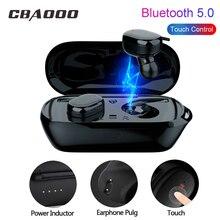 CBAOOO T2S наушники-вкладыши TWS с мини Беспроводной Bluetooth наушники стерео V5.0 наушники с сенсорным управлением Спортивная гарнитура с микрофоном наушники зарядный контейнер