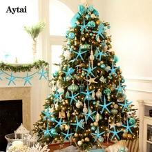 OurWarm 10pcs Starfish Five Finger Christmas Pendant & Drop Ornaments Tree Decoration Natal 2018