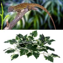 2m Reptile Terrarium Artificial Vine Lizards Box Decoration Lizard Plastic Fake Plants Green Leaves Habitat Decor C42(China)