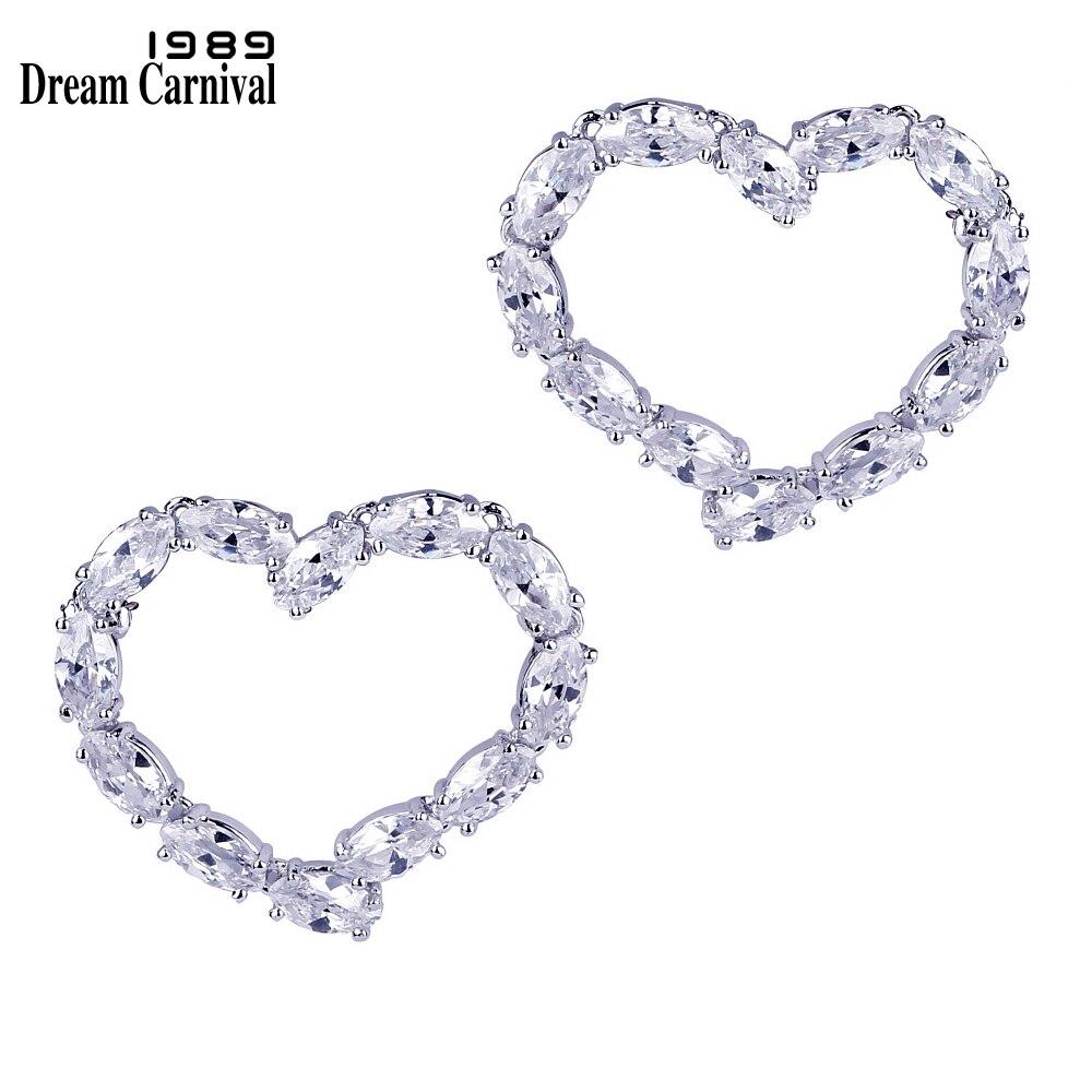 DreamCarnival 1989 Lover Cute Heart Stud Earrings for Women Rhodium Drop Ship Fashion Jewelry Super Deal Sales Earings 37E1049